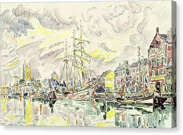 Fecamp Canvas Print by Paul Signac