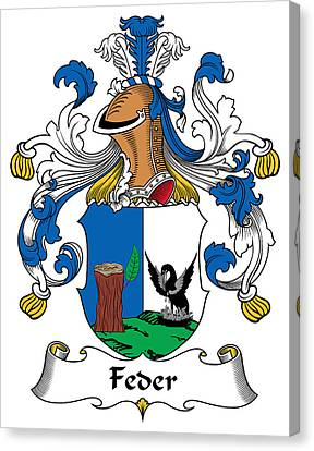 Fed Canvas Print - Feder Coat Of Arms German by Heraldry