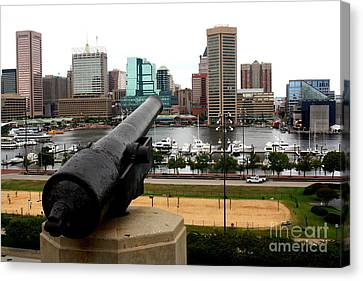 Civil War Site Canvas Print - Federal Hill Cannon by Patti Whitten