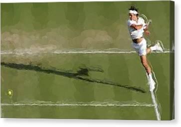 Federer Passing Shot Canvas Print