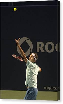 Federer's Serve Canvas Print by Bill Cubitt