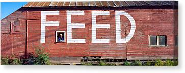 Feed Store, Newport, Wa, Usa Canvas Print by Panoramic Images