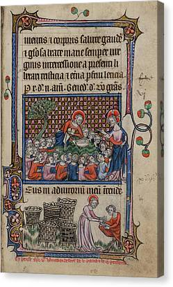 Jesus Canvas Print - Feeding The Five Thousand by British Library
