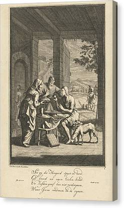 Feeding The Hungry, Jan Luyken Canvas Print