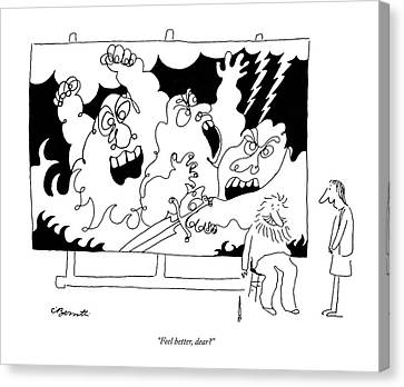Bizarre Canvas Print - Feel Better by Charles Barsotti