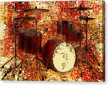 Feel The Drums Canvas Print by Jack Zulli