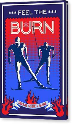 Feel The Burn Xski Canvas Print