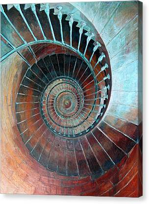 Staircase Canvas Print - Feel Your Presence And Its Inherent Vibration by Elizabeth D'Angelo