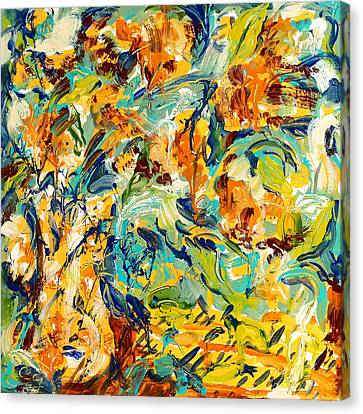 Feelin Fall Canvas Print by Carole Goldman