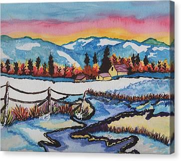 Feeling Alot Like Christmas Canvas Print by Connie Valasco