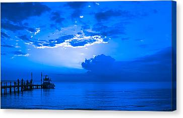 Canvas Print featuring the photograph Feeling Blue by Phil Abrams