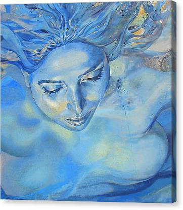 Canvas Print featuring the photograph Feeling Blue by Ramona Johnston