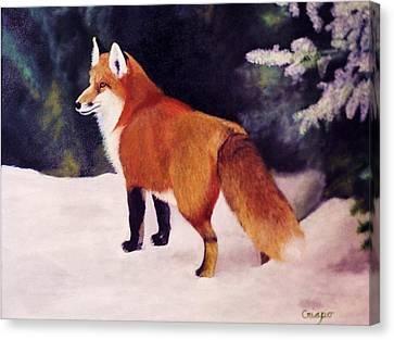 Feeling Foxy Canvas Print by Jean Yves Crispo