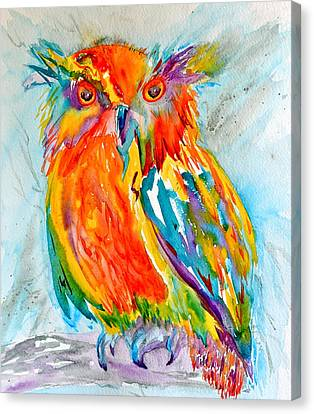 Feeling Owlright Canvas Print by Beverley Harper Tinsley