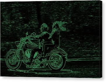 Feeling The Ride Canvas Print by Karol Livote
