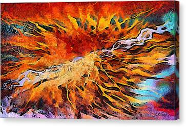 Feelings Eruption Canvas Print by George Rossidis