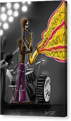 Fela Afrobeat Kuti Canvas Print by Sasank Gopinathan