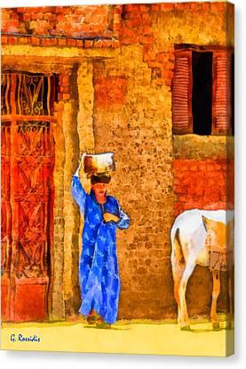 Felaha In Egypt Canvas Print