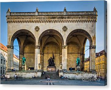 Canvas Print featuring the photograph Feldherrnhalle by John Wadleigh