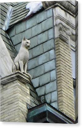 Feline Canvas Print - Feline Sentry by Jeffrey Kolker