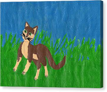 Feline Venturing Canvas Print