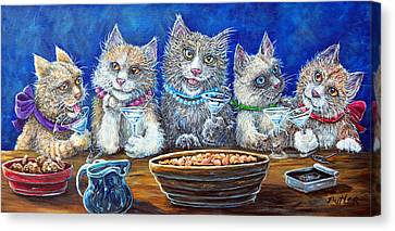 Felines After Five Canvas Print