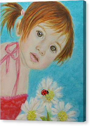 Felisa Little Angel Of Happiness And Luck Canvas Print by The Art With A Heart By Charlotte Phillips