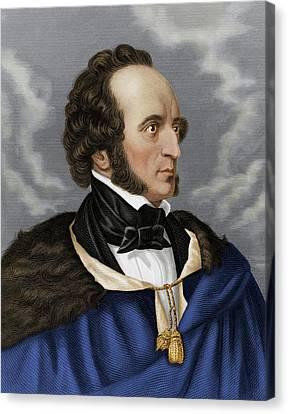 Felix Mendelssohn Canvas Print by Maria Platt-evans