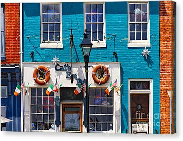 Fells Point Impression Canvas Print by George Oze