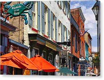 Fells Point Signs Canvas Print by George Oze