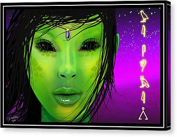 Female Alien Canvas Print by John Wills