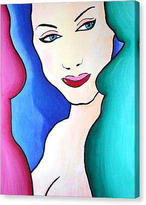Female Face Shapes And Forms Canvas Print by Bob Baker
