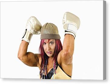 Female Kick Boxer 1 Canvas Print by Ilan Rosen