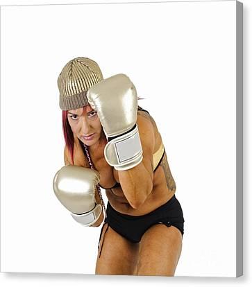 Female Kick Boxer 3 Canvas Print by Ilan Rosen