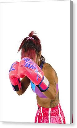 Female Kick Boxer  Canvas Print by Ilan Rosen