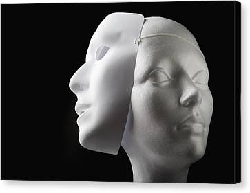 Female Mannequin And Mask Canvas Print by Kelly Redinger
