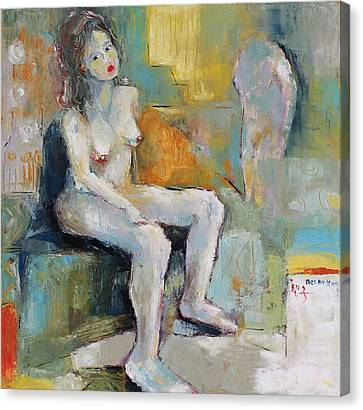 Female Nude 2 Canvas Print by Becky Kim