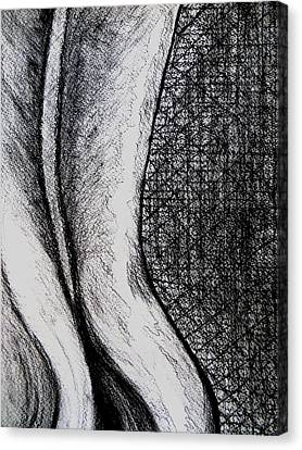 Female Nude The Backside Canvas Print