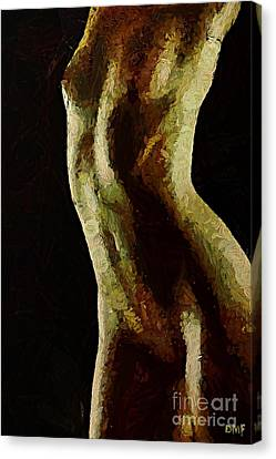 Female Shape Canvas Print by Dragica  Micki Fortuna