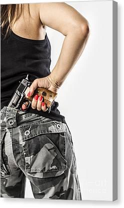 Courage Canvas Print - Feminin Agent by Carlos Caetano