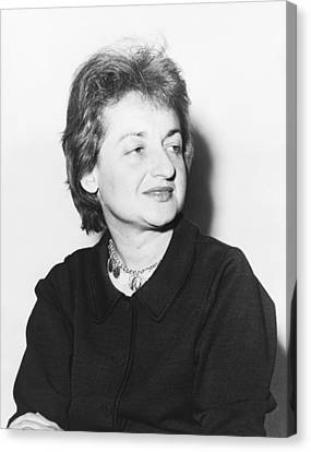 Feminist Betty Friedan Canvas Print by Fred Palumbo
