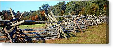Battle Of Gettysburg Canvas Print - Fence At Gettysburg National Military by Panoramic Images