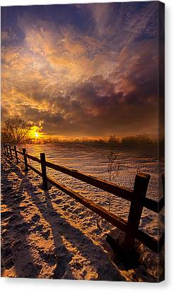 Fence Walking Canvas Print by Phil Koch