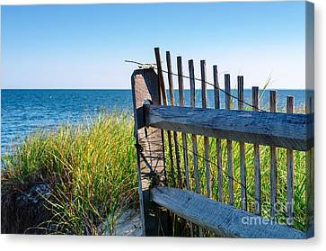 Canvas Print featuring the photograph Fence With A Great View by Mike Ste Marie