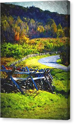 Canvas Print featuring the photograph Fenced In by Cathy Shiflett