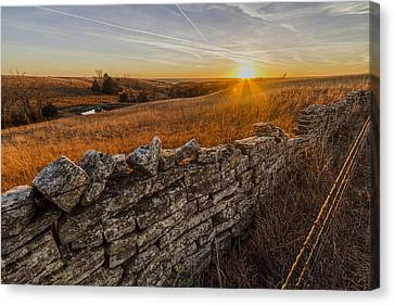Barbed Wire Canvas Print - Fences by Scott Bean