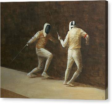 Fencing Canvas Print by Lincoln Seligman