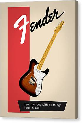 Fender All Things Rock N Roll Canvas Print by Mark Rogan
