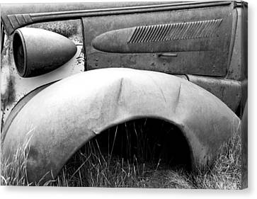 Canvas Print featuring the photograph Fender Bender 2 by Jim Snyder