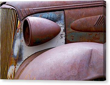 Canvas Print featuring the photograph Fender Bender by Jim Snyder
